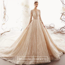 Load image into Gallery viewer, The Vion Wedding Bridal Long Sleeves Gown - WeddingConfetti