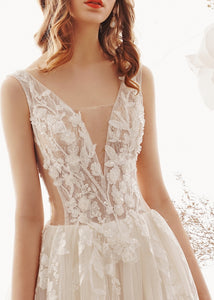 The Laila Wedding Bridal Sleeveless Gown - WeddingConfetti