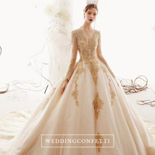 Load image into Gallery viewer, The Kristel Wedding Bridal Long Sleeves Gown - WeddingConfetti