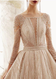 The Vion Wedding Bridal Long Sleeves Gown - WeddingConfetti