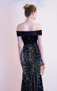 The Etsy Off Shoulder Glitter Gown - WeddingConfetti