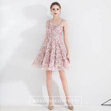 Load image into Gallery viewer, The Yazmin Pink Sleeveless Cocktail Dress - WeddingConfetti