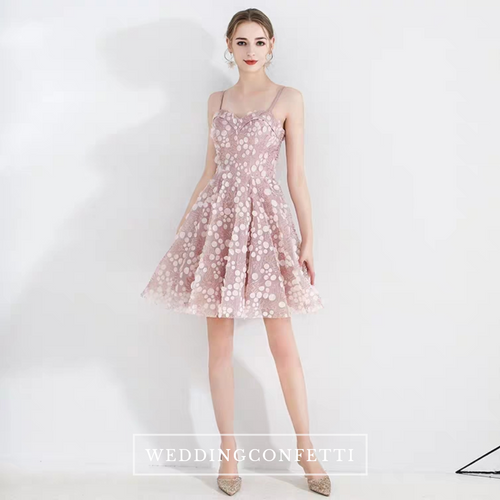 The Yazmin Pink Sleeveless Cocktail Dress - WeddingConfetti