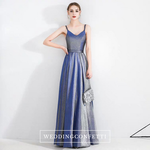 The Lina Blue Ombre Sleeveless Gown - WeddingConfetti