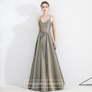 The Kris Ombre Gold Sleeveless Gown - WeddingConfetti