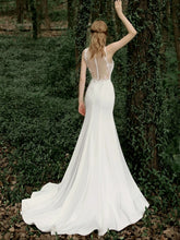 Load image into Gallery viewer, The Jessamy Wedding Bridal Sleeveless White Gown - WeddingConfetti