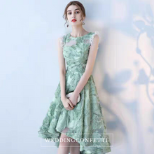 Load image into Gallery viewer, The Evelina Green High Low Dress - WeddingConfetti