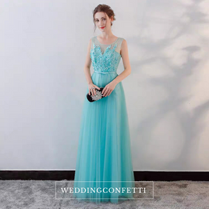 The Olyesa Tiffany Blue Sleeveless Gown - WeddingConfetti