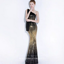 Load image into Gallery viewer, The Lynne Sequined Ombre Gown - WeddingConfetti