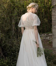Load image into Gallery viewer, The Alene Bohemian Puff Sleeves Wedding Gown - WeddingConfetti