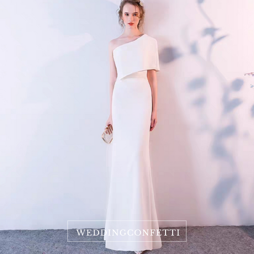The Leia Toga White Gown - WeddingConfetti