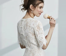 Load image into Gallery viewer, The Azalea Short Sleeve Lace Dress - WeddingConfetti