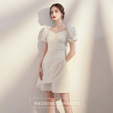 Load image into Gallery viewer, The Rhys Short Puffed Sleeves Dress - WeddingConfetti