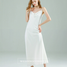Load image into Gallery viewer, The Franca White Satin Dress