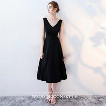 Load image into Gallery viewer, The Katine Black Cocktail Sleeveless Dress - WeddingConfetti