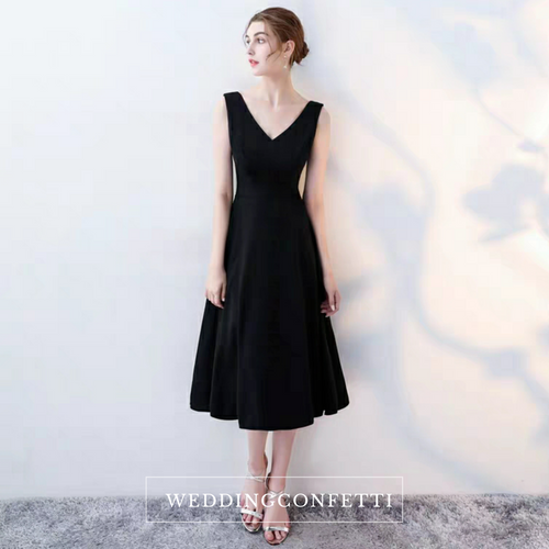 The Katine Black Cocktail Sleeveless Dress - WeddingConfetti