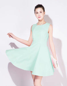The Hailey White / Pink / Mint Green Sleeveless Dress