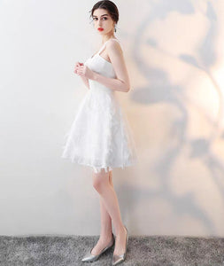 The Abby White / Black Feathered White Dress (Available in 3 Different Lengths)