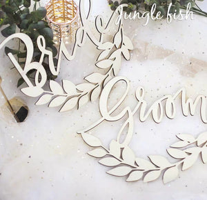 Wedding Decor - Bride & Groom Sign