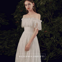 Load image into Gallery viewer, The Rosalind Wedding Bridal Off Shoulder Off White Gown