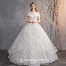 Load image into Gallery viewer, The Juniper Wedding Bridal Off Shoulder Lace Gown