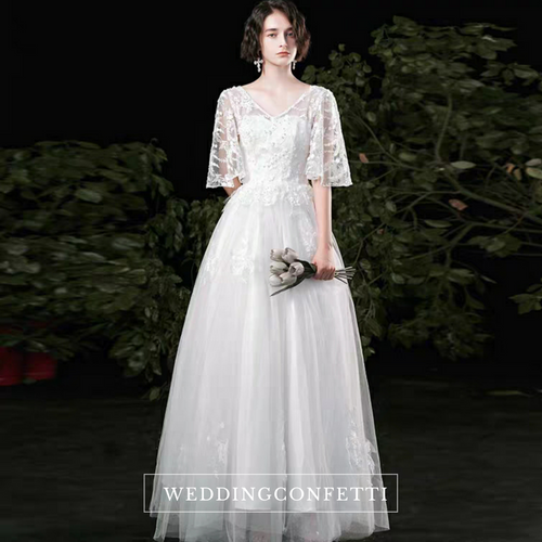 The Russel Wedding Bridal Flare Sleeves Lace Gown