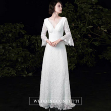 Load image into Gallery viewer, The Ophelia Wedding Bridal Trumpet Sleeves Lace Gown