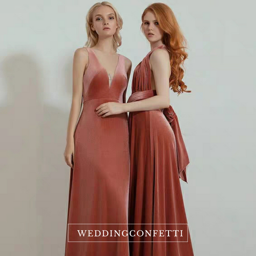 The Roselle Velvet Bridesmaid Collection