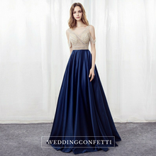 Load image into Gallery viewer, The Shelby Blue Off Shoulder Gown (Available in 2 colours)