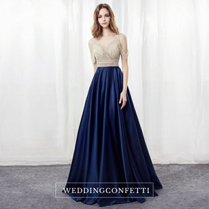 The Shelby Blue Off Shoulder Gown (Available in 2 colours)