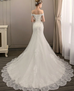 The Triniity Wedding Bridal Off Shoulder Gown