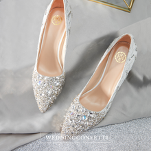 Load image into Gallery viewer, The Tessa Wedding Studded Lace Heels