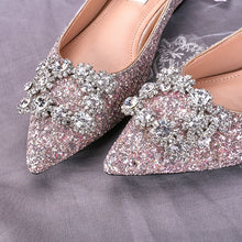 Load image into Gallery viewer, The Primrose Wedding Crystal Flats