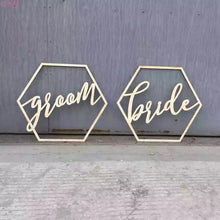 Load image into Gallery viewer, Wedding Decor - Hexagonal Bride & Groom / Mr&Mrs / Together Better - WeddingConfetti