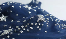Load image into Gallery viewer, The Cassiopeia Blue Stars Sleeveless Gown - WeddingConfetti