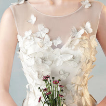 Load image into Gallery viewer, The Caryssa White Sleeveless Butterfly Lace Dress - WeddingConfetti