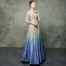 Load image into Gallery viewer, The Katrina Sleeveless Champagne Ombre Gown - WeddingConfetti