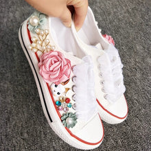 Load image into Gallery viewer, Wedding Bridal Floral Sneakers