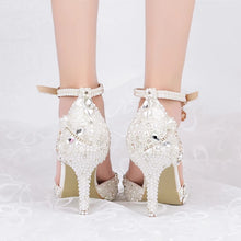 Load image into Gallery viewer, Wedding Bridal Crystal Heels