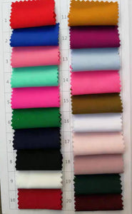 Double FDY Fabric Colour Chart