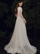 Load image into Gallery viewer, The Paisleigh Wedding Bridal Cap Sleeves Gown