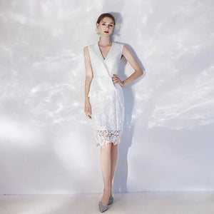 The Victoria White Lace Dress (Available in 2 colours) - WeddingConfetti