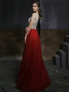 The Shelby Red Off Shoulder Gown (Available in 2 colours)