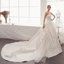 Load image into Gallery viewer, The Izzey Wedding Bridal Satin Tube Gown - WeddingConfetti