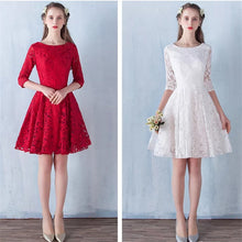 Load image into Gallery viewer, The Raynee Long Sleeves Illusion Lace Dress (Available in 3 Colours) - WeddingConfetti