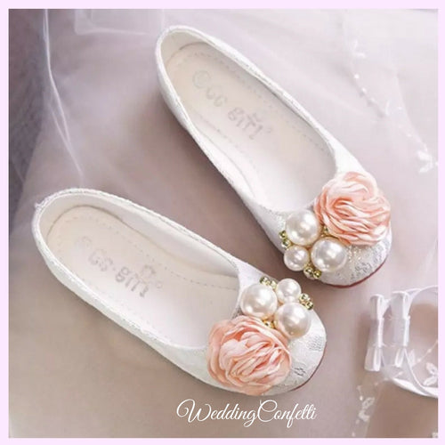 The Melanie Flower Girl Shoes (Available in 2 colours) - WeddingConfetti