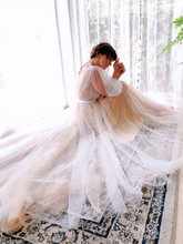 Load image into Gallery viewer, The Erista Bohemian Ilusion Sleeves Wedding Gown - WeddingConfetti
