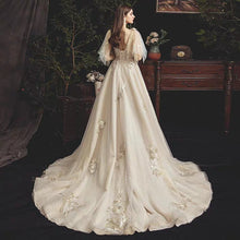 Load image into Gallery viewer, The Rosaleen Wedding Bridal Flare Sleeves Gown - WeddingConfetti
