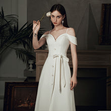 Load image into Gallery viewer, The Betsa White Off Shoulder Dress
