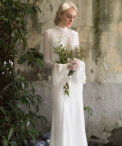 The Willow Bohemian Wedding Long Sleeves Dress - WeddingConfetti